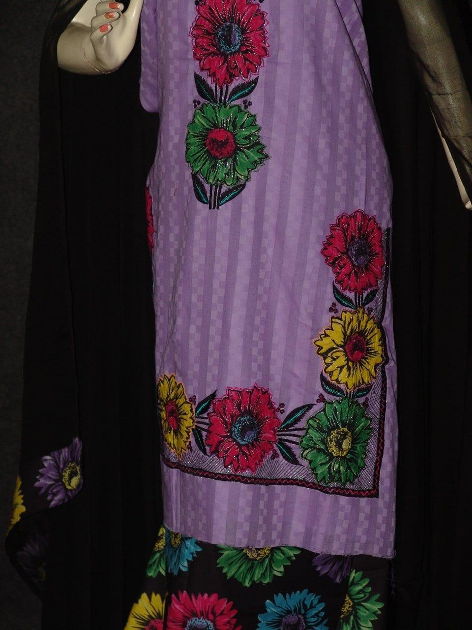 Pure Cotton FULL Patiala Salwar embr  Suit Chiffon Dupatta RM174 2