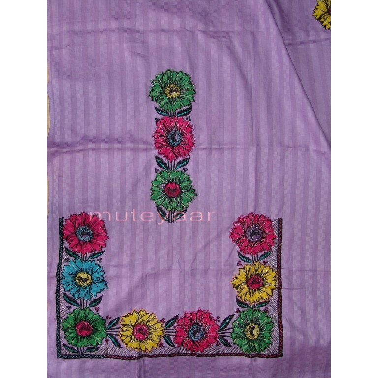 Pure Cotton FULL Patiala Salwar embr  Suit Chiffon Dupatta RM174