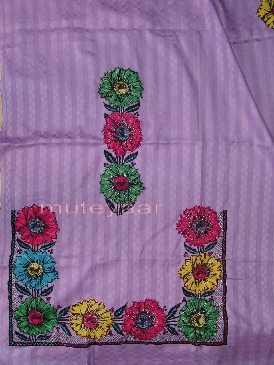 Pure Cotton FULL Patiala Salwar embr  Suit Chiffon Dupatta RM174 3