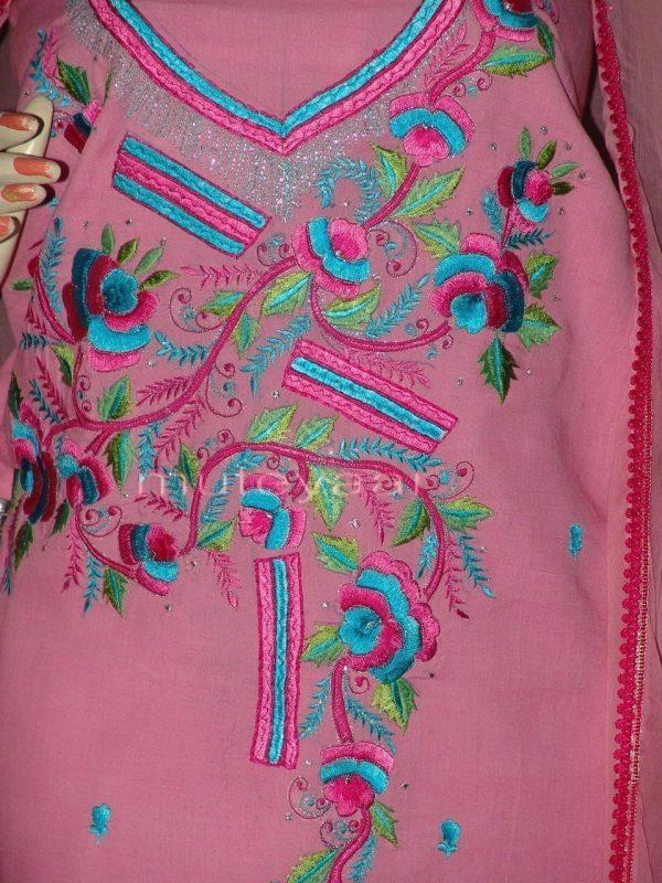 Pure Cotton embroidered Salwar Suit Chiffon Dupatta RM191