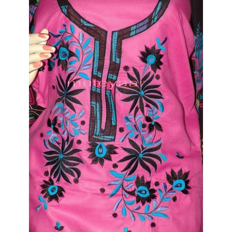 Pure Cotton FULL Patiala Salwar embr  Suit Cotton Dupatta RM194