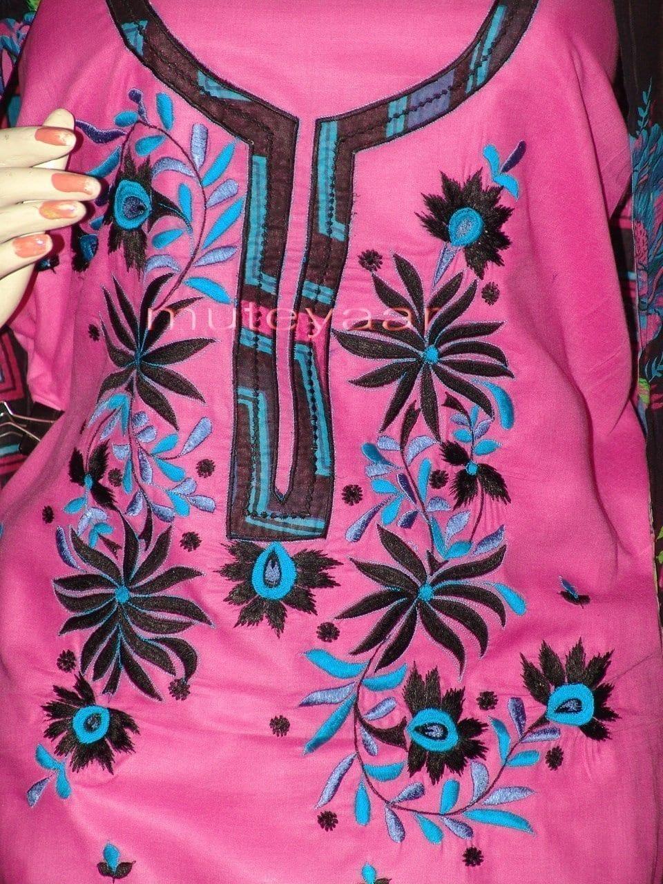 Pure Cotton FULL Patiala Salwar embr  Suit Cotton Dupatta RM194 2