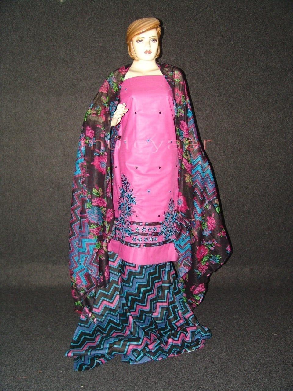 Pure Cotton FULL Patiala Salwar embr  Suit Cotton Dupatta RM197 1