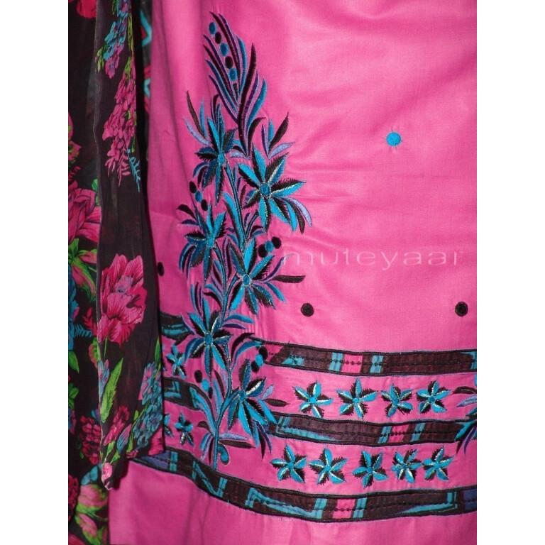 Pure Cotton FULL Patiala Salwar embr  Suit Cotton Dupatta RM197