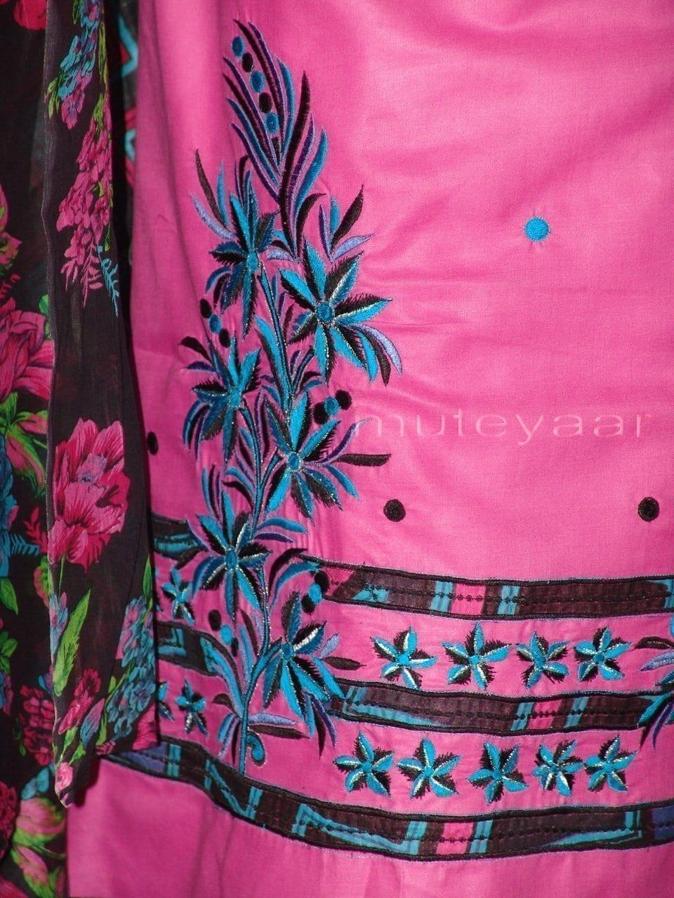Pure Cotton FULL Patiala Salwar embr  Suit Cotton Dupatta RM197 2