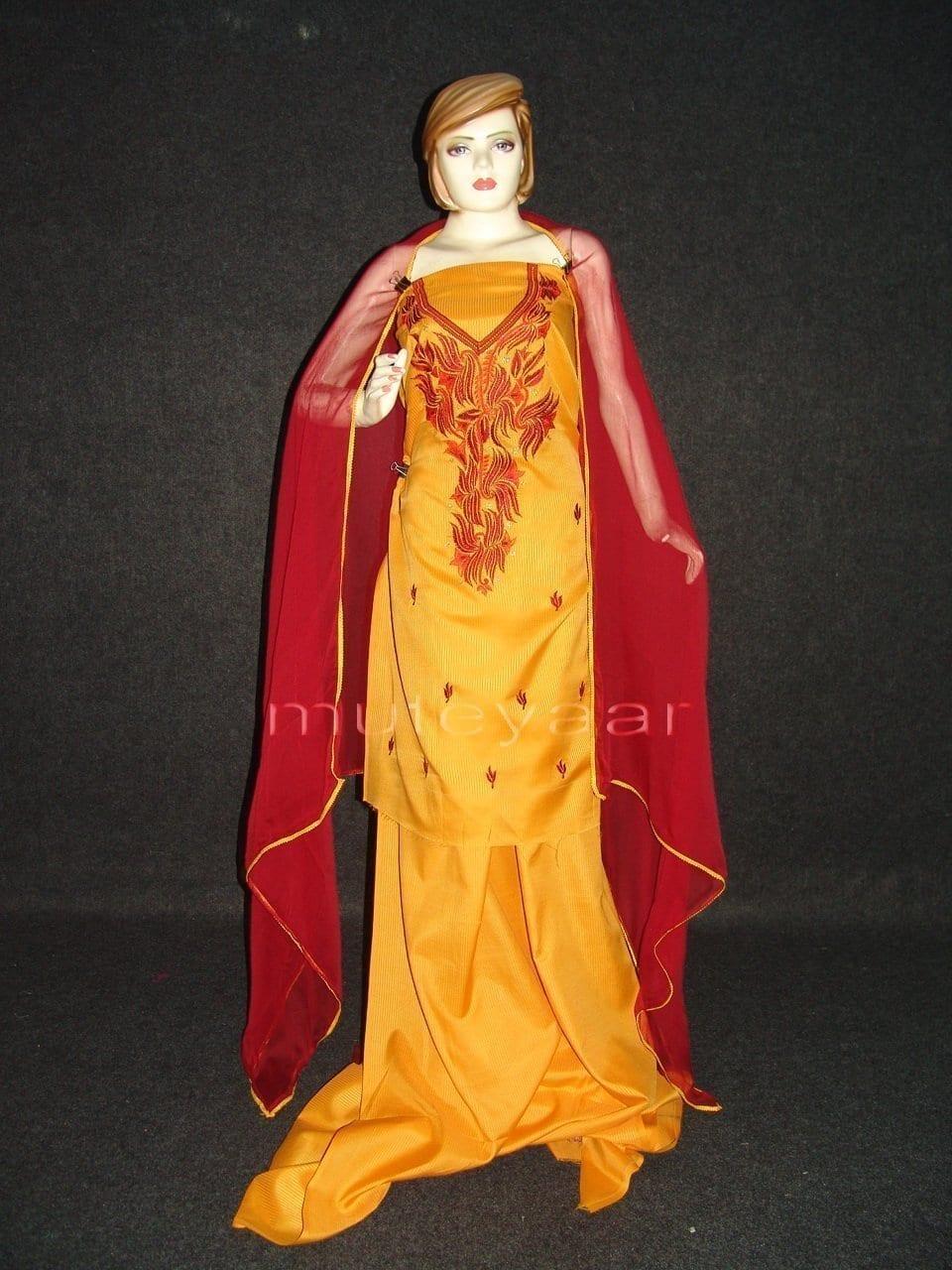 Pure Cotton Embroidered Salwar Suit PURE CHIFFON Dupatta RM199 1