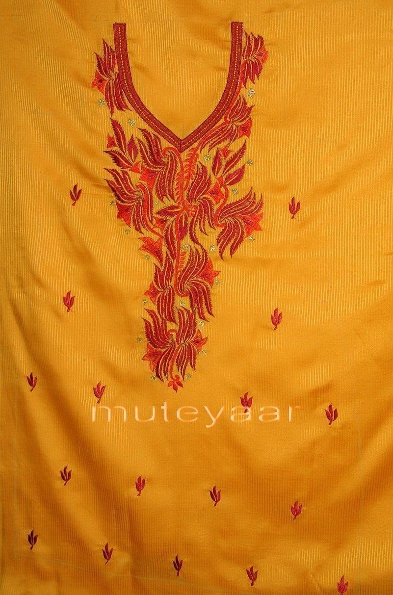Pure Cotton Embroidered Salwar Suit PURE CHIFFON Dupatta RM199 3