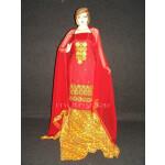 FULL PATIALA Salwar embr cotton Suit PURE CHIFFON Dupatta RM201