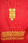 FULL PATIALA Salwar embr cotton Suit PURE CHIFFON Dupatta RM201