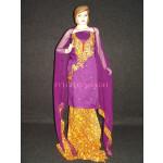 FULL PATIALA Salwar embr cotton Suit PURE CHIFFON Dupatta RM205