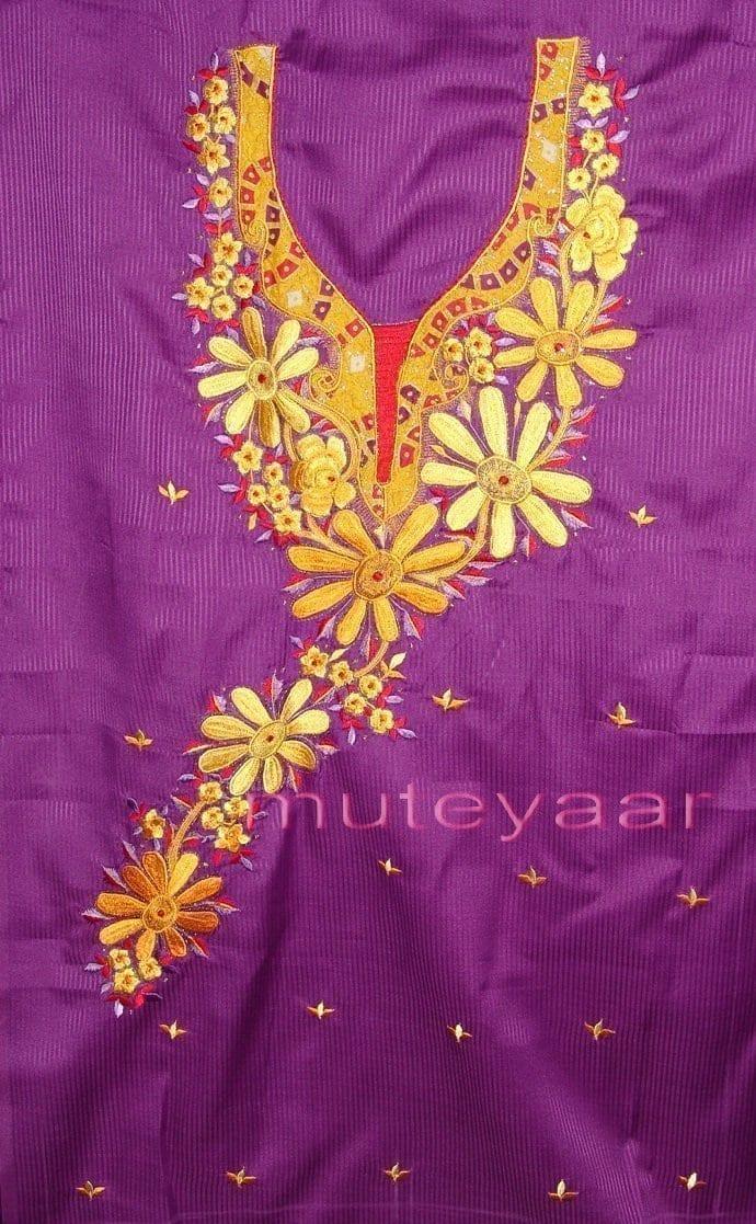 FULL PATIALA Salwar embr cotton Suit PURE CHIFFON Dupatta RM205 3