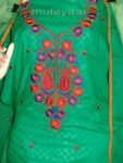 LONG embr SLEEVES Salwar Suit PURE CHIFFON Dupatta RM214