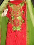 Pure Cotton Embroidered Salwar Suit PURE CHIFFON Dupatta RM215