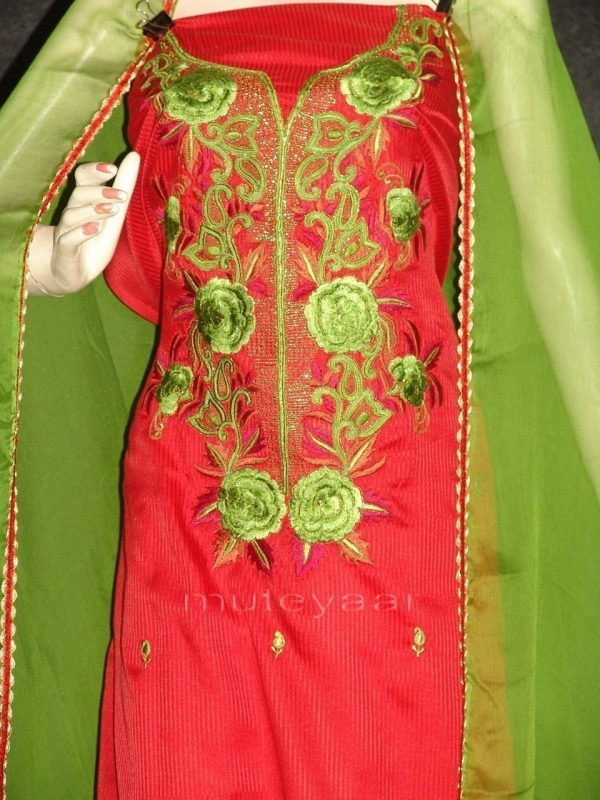 Pure Cotton Embroidered Salwar Suit PURE CHIFFON Dupatta RM215