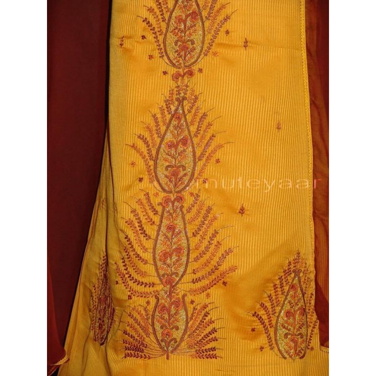 Pure Cotton Embroidered Salwar Suit PURE CHIFFON Dupatta RM217