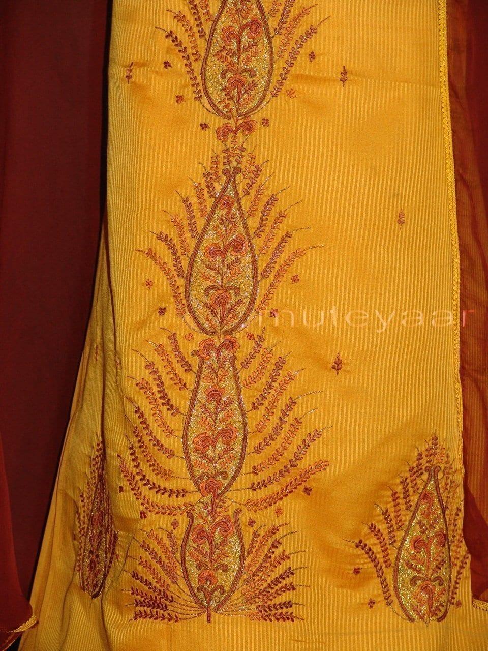 Pure Cotton Embroidered Salwar Suit PURE CHIFFON Dupatta RM217 2