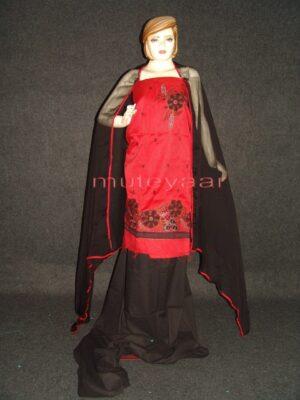 FULL PATIALA 100% cotton Salwar Suit PURE CHIFFON Dupatta RM230