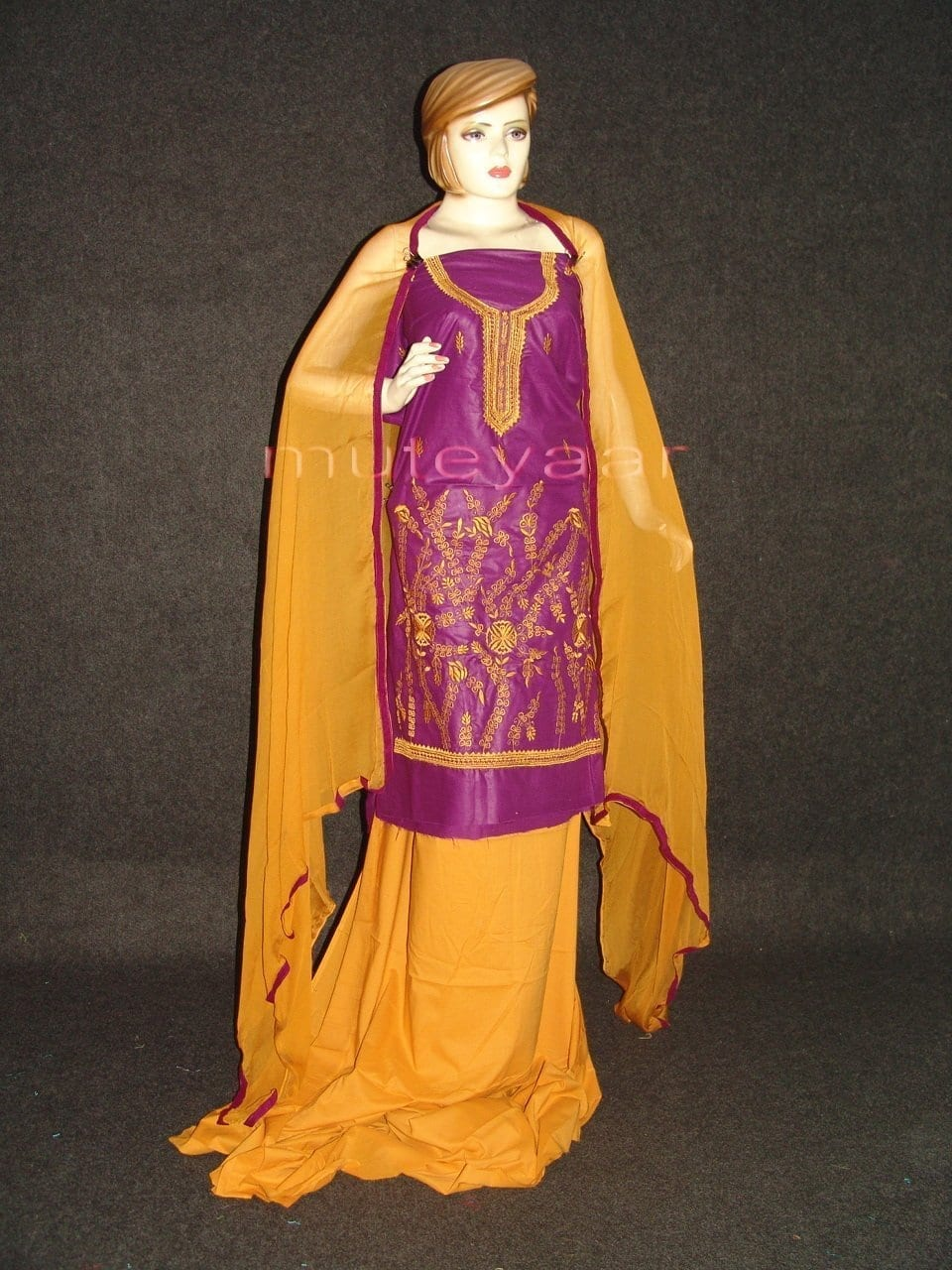 FULL PATIALA 100% cotton Salwar Suit PURE CHIFFON Dupatta RM232 1