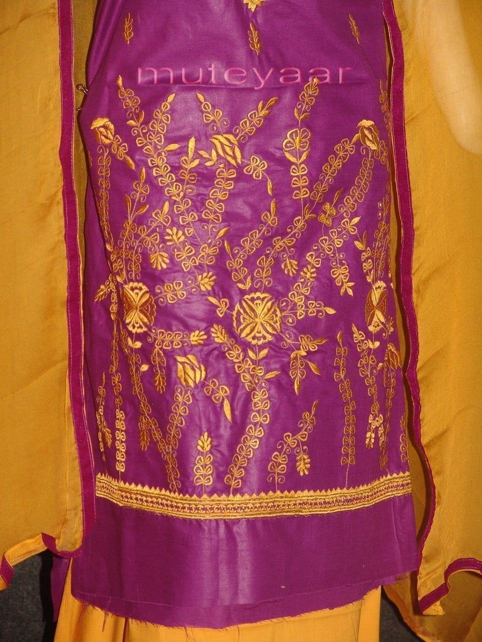 FULL PATIALA 100% cotton Salwar Suit PURE CHIFFON Dupatta RM232 2