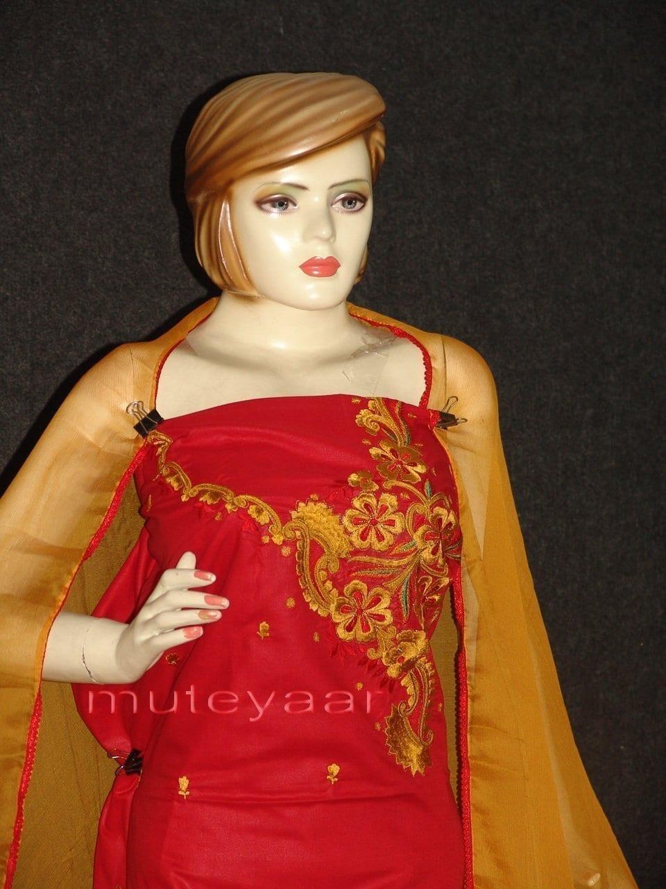 FULL PATIALA 100% cotton Salwar Suit PURE CHIFFON Dupatta RM235 2