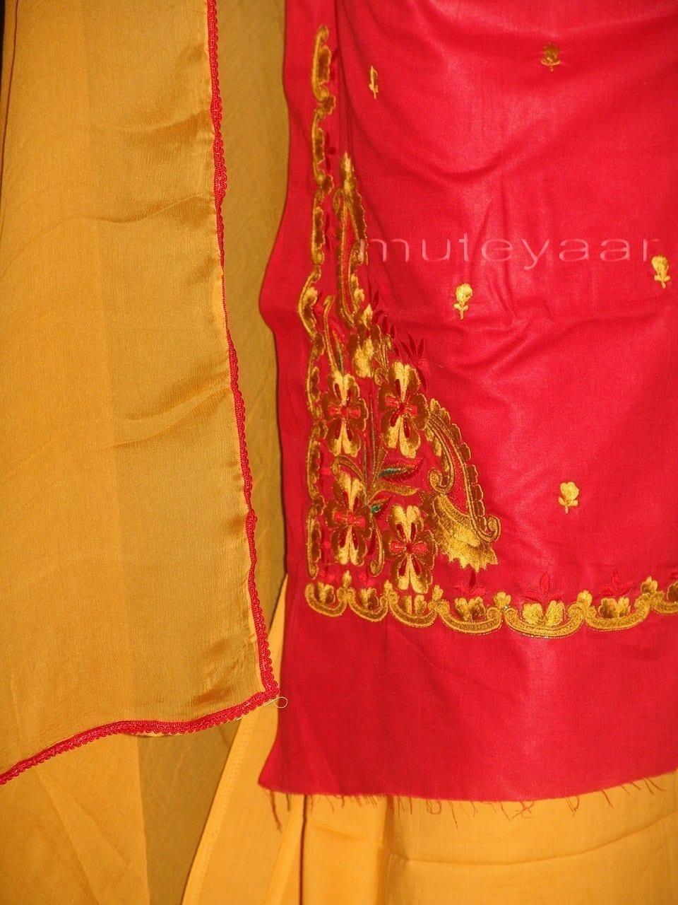 FULL PATIALA 100% cotton Salwar Suit PURE CHIFFON Dupatta RM235 3