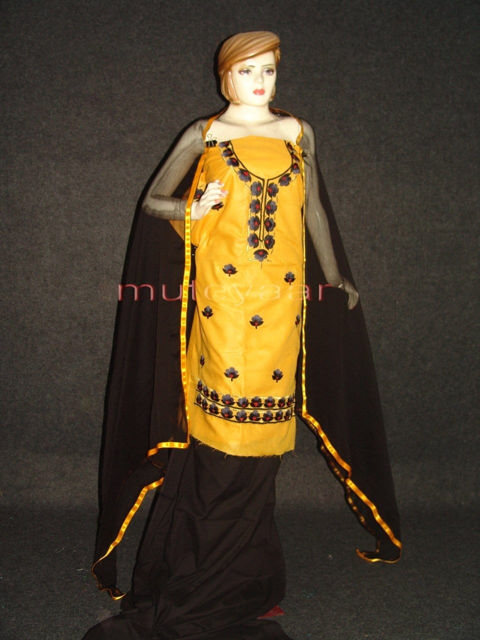 FULL PATIALA 100% cotton Salwar Suit PURE CHIFFON Dupatta RM236 1