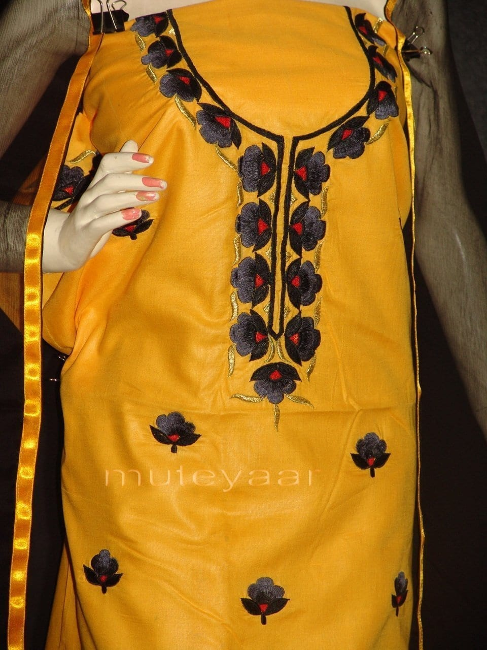 FULL PATIALA 100% cotton Salwar Suit PURE CHIFFON Dupatta RM236 2