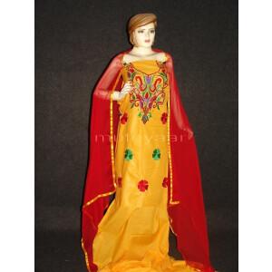 Thread Embroidered Cotton Salwar Suit PURE CHIFFON Dupatta RM243