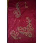 Thread Embroidered Cotton FULL Patiala Salwar Suit PURE CHIFFON Dupatta RM261