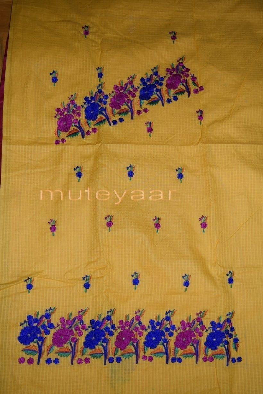 Thread Embroidered100% cotton Salwar Suit PURE CHIFFON Dupatta RM262 4
