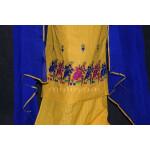 Thread Embroidered100% cotton Salwar Suit PURE CHIFFON Dupatta RM262