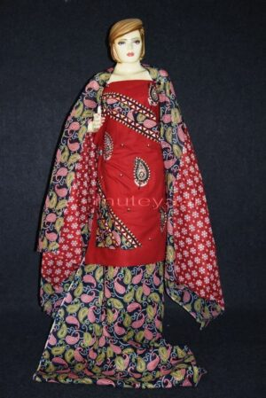 Pure Cotton FULL Patiala Salwar embr  Suit Cotton Dupatta RM272