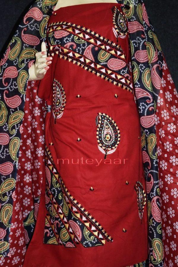 Pure Cotton FULL Patiala Salwar embr  Suit Cotton Dupatta RM272