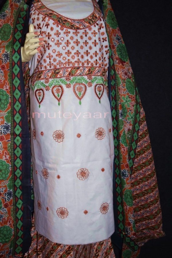 Pure Cotton FULL Patiala Salwar embr  Suit Cotton Dupatta RM282