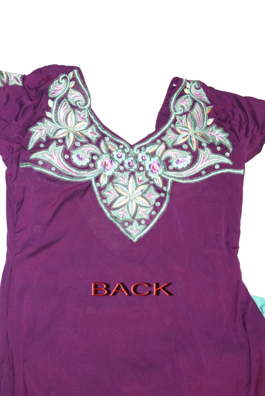Neck Front & Back embroidered Salwar kameez Suit for Bhangra Giddha RMB264 3