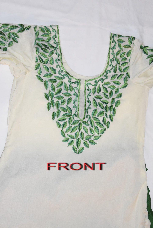 Neck Front & Back embroidered Salwar kameez Suit for Bhangra Giddha RMB265 2