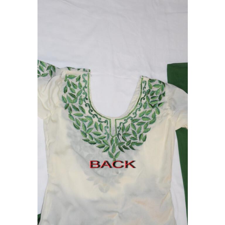 Neck Front & Back embroidered Salwar kameez Suit for Bhangra Giddha RMB265