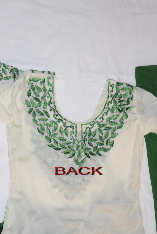 Neck Front & Back embroidered Salwar kameez Suit for Bhangra Giddha RMB265 3