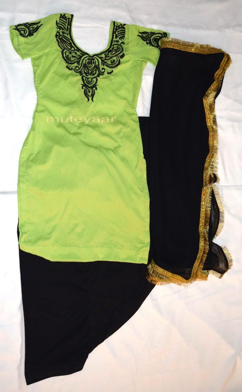 Neck Front & Back embroidered Salwar kameez Suit for Bhangra Giddha RMB266 1
