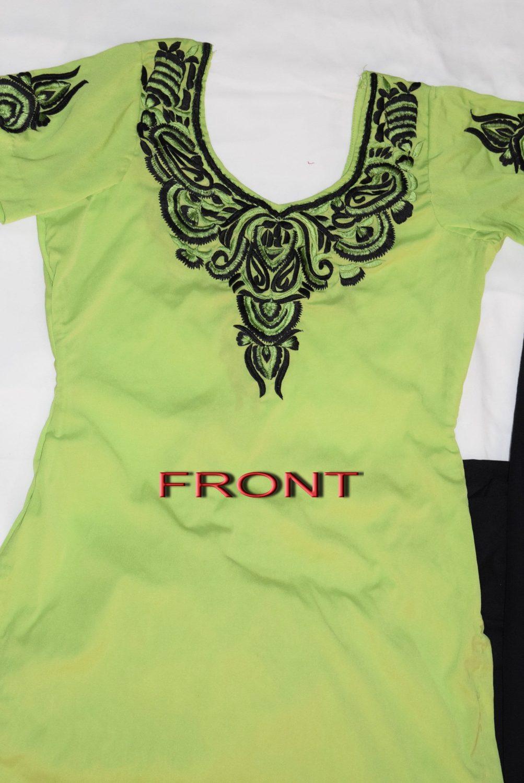 Neck Front & Back embroidered Salwar kameez Suit for Bhangra Giddha RMB266 2