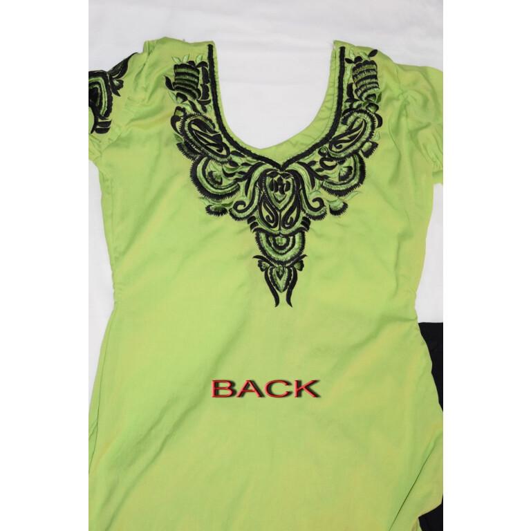 Neck Front & Back embroidered Salwar kameez Suit for Bhangra Giddha RMB266