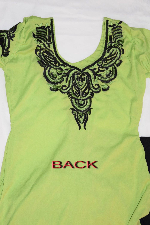 Neck Front & Back embroidered Salwar kameez Suit for Bhangra Giddha RMB266 3