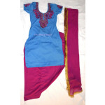 Neck Front & Back embroidered Salwar kameez Suit for Bhangra Giddha RMB267