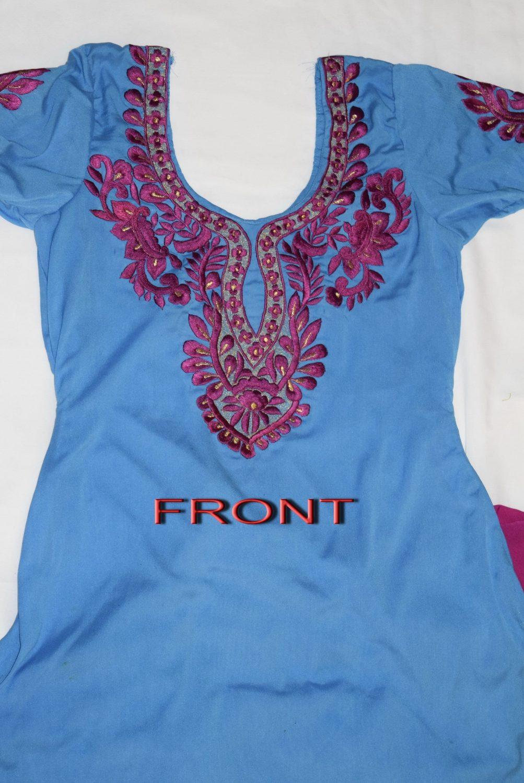 Neck Front & Back embroidered Salwar kameez Suit for Bhangra Giddha RMB267 2