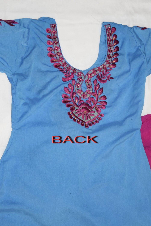 Neck Front & Back embroidered Salwar kameez Suit for Bhangra Giddha RMB267 3
