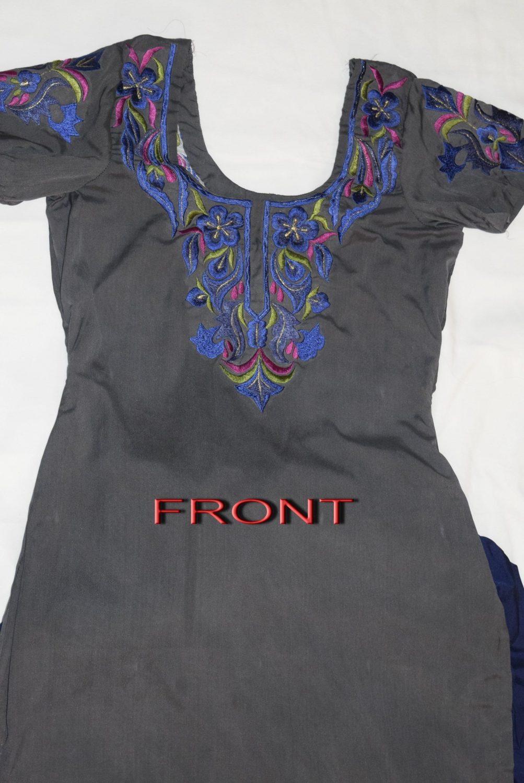 Neck Front & Back embroidered Salwar kameez Suit for Bhangra Giddha RMB268 2