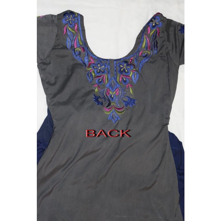 Neck Front & Back embroidered Salwar kameez Suit for Bhangra Giddha RMB268