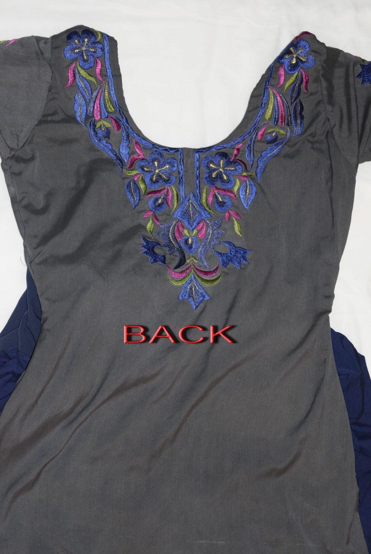 Neck Front & Back embroidered Salwar kameez Suit for Bhangra Giddha RMB268 3