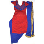 Neck Front & Back embroidered Salwar kameez Suit for Bhangra Giddha RMB271