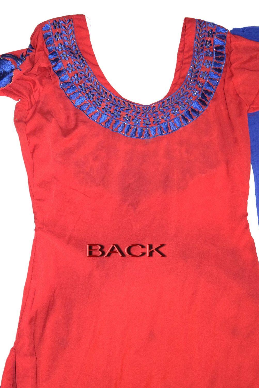 Neck Front & Back embroidered Salwar kameez Suit for Bhangra Giddha RMB271 3